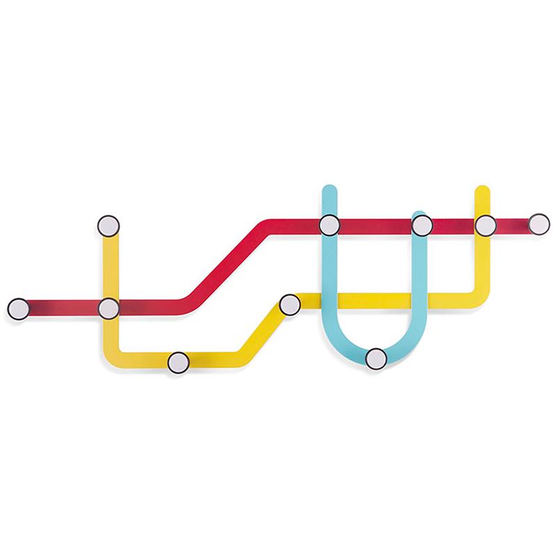Вешалка Subway, разноцветная
