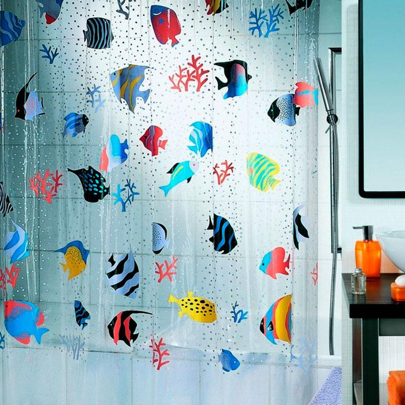 Штора для ванной комнаты Spirella Fish, 180х200см,