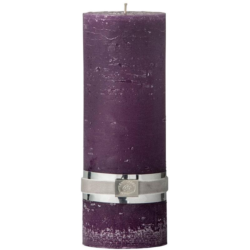 Свеча Lene Bjerre Rustic 20x7,5см, цвет фиолетовый