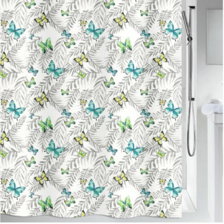 Штора для ванной Spirella Papillons, 240х180см, полиэстер,