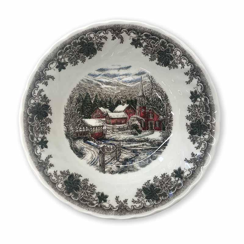 Тарелка десертная Churchill Зимняя деревня