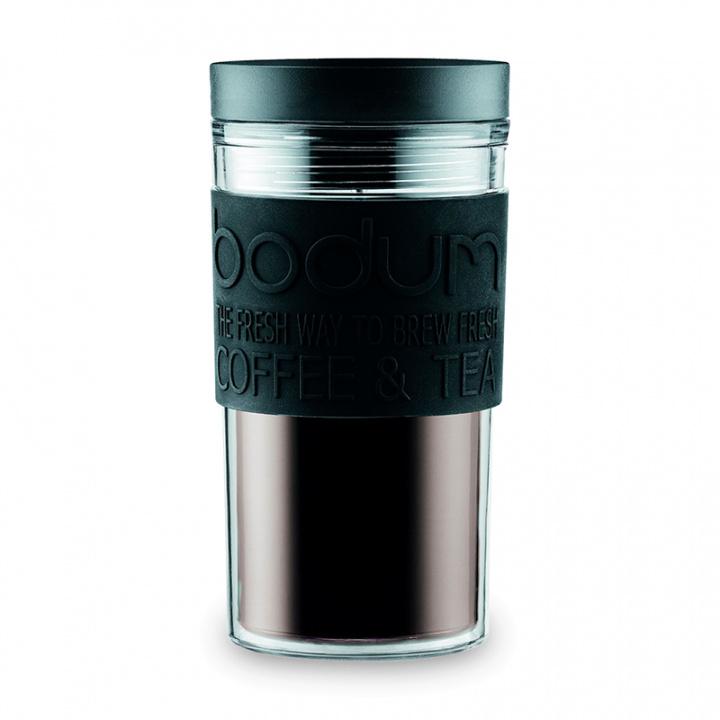 Кружка дорожная Bodum Travel 350мл, цвет черный