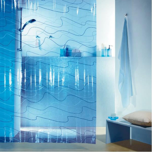Штора для ванной pool, 180х200, синяя
