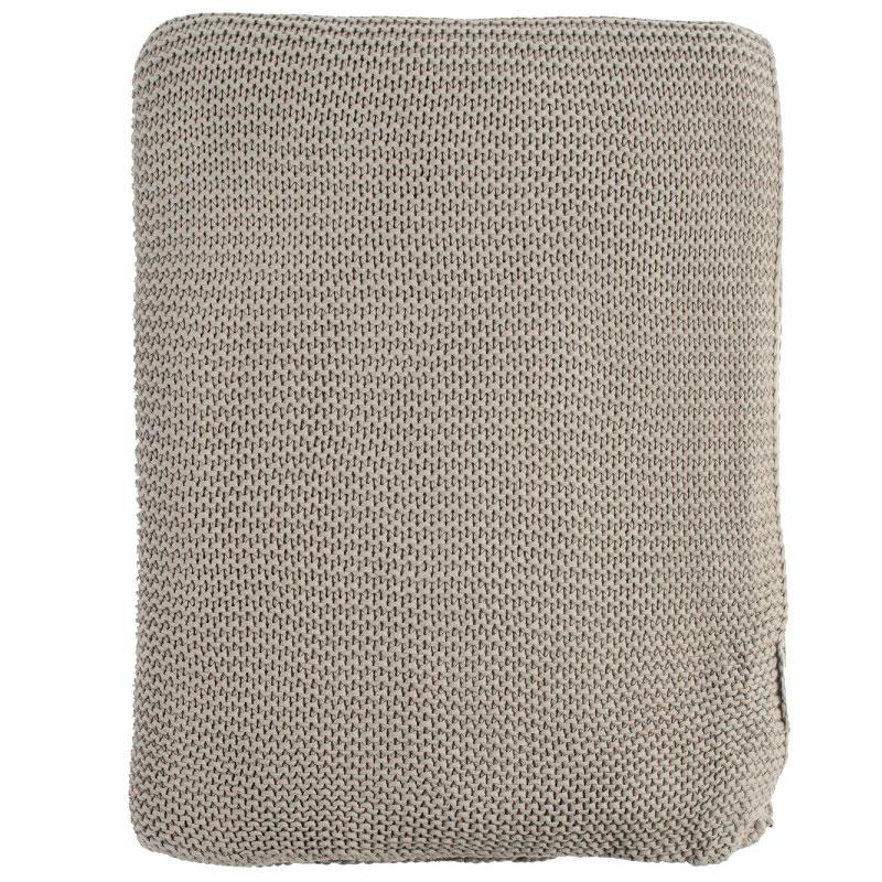 Плед жемчужной вязки серого цвета Essential 220х180