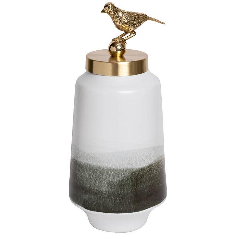 Ваза Гарда Декор керамическая с крышкой