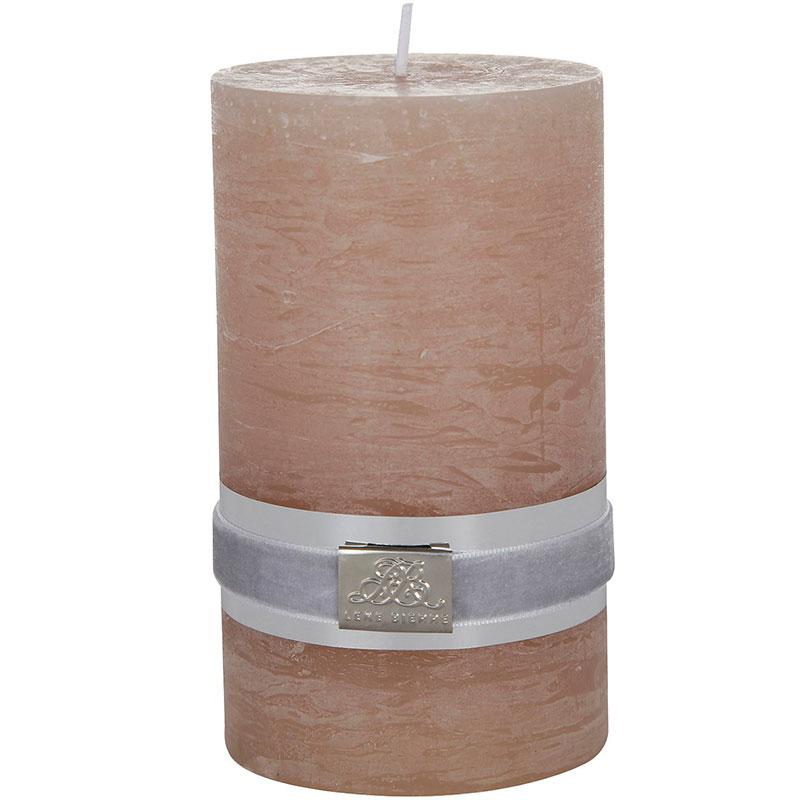 Свеча Lene Bjerre Rustic 12,5x7,5см, цвет Песочный
