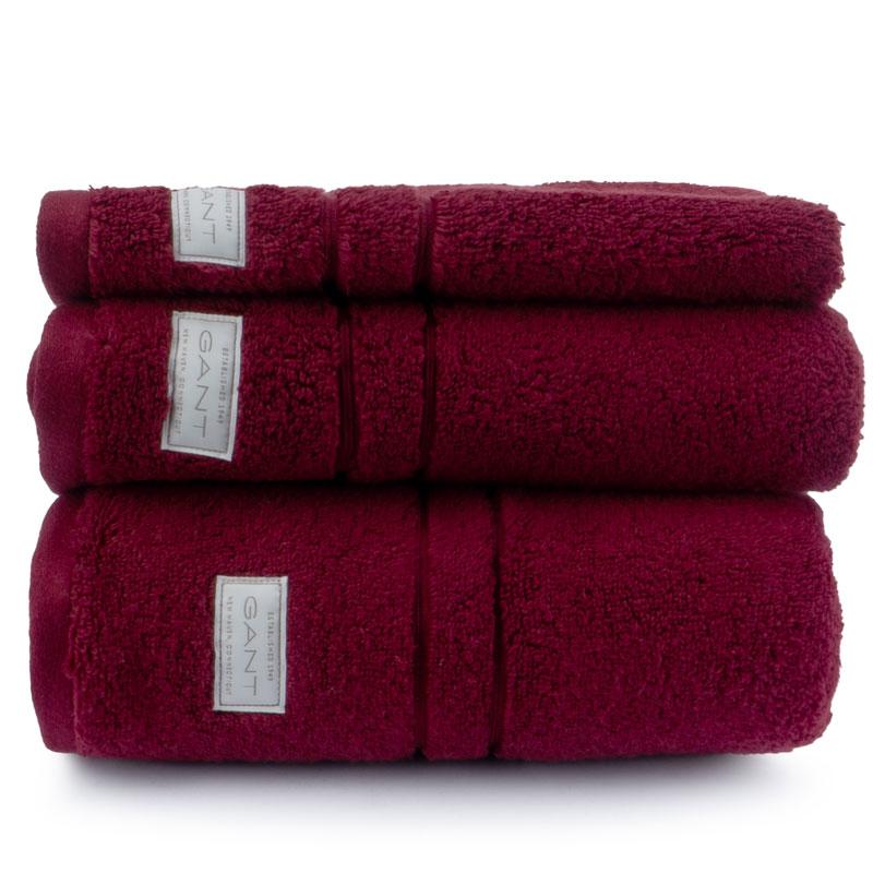 Полотенце махровое Gant Home Organic Premium 50x100см, цвет бордовый