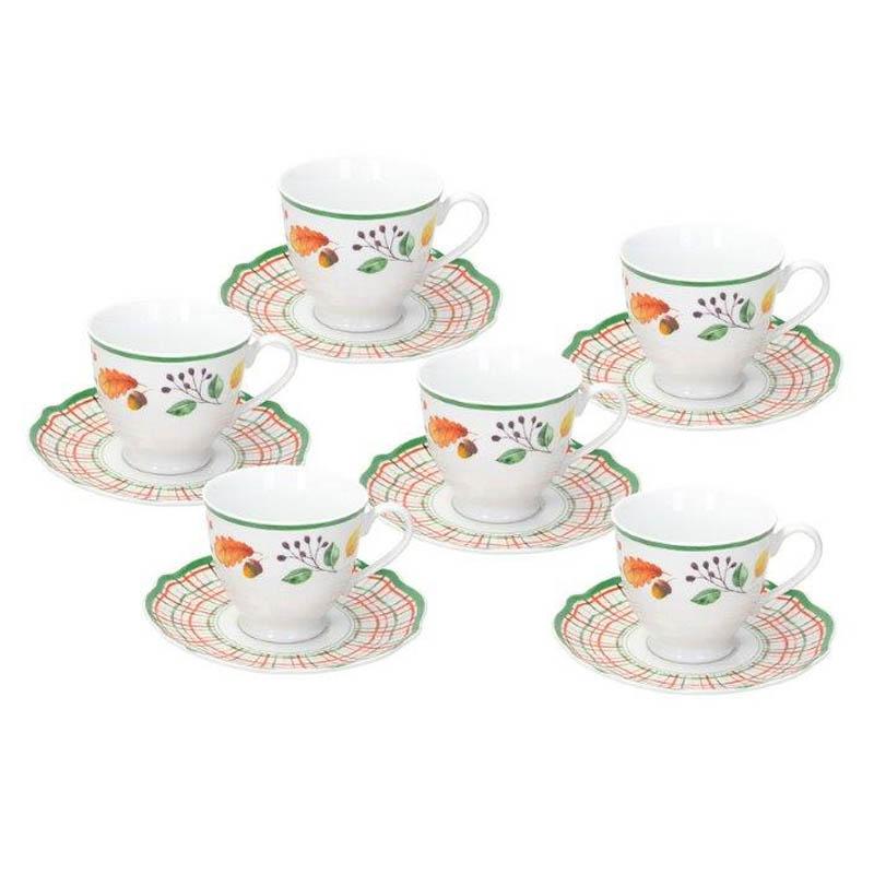 Набор чайных чашек с блюдцами Tognana Biancospino