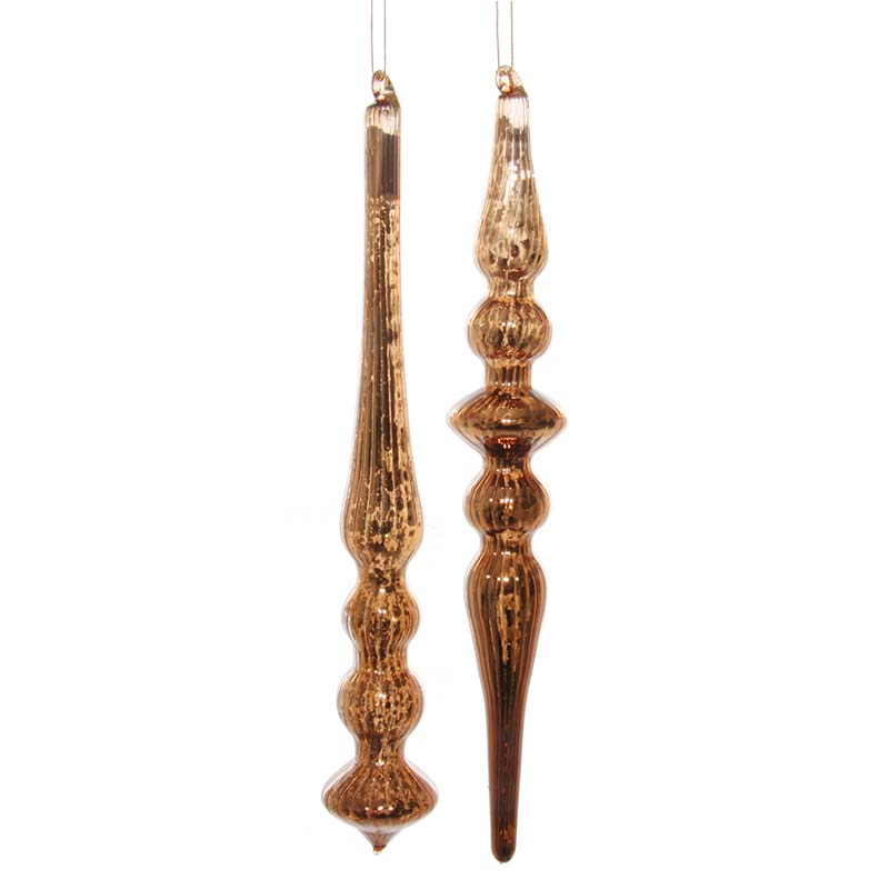 Елочное украшение Shishi Copper Сосулька, 19см
