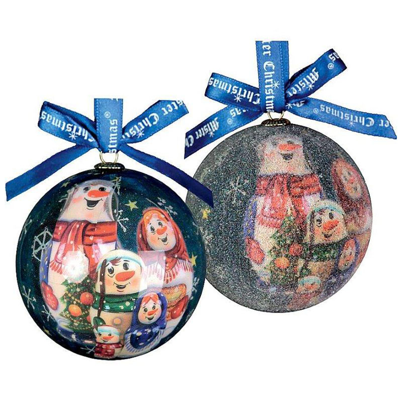 Набор елочных игрушек Mister Christmas папье маше,