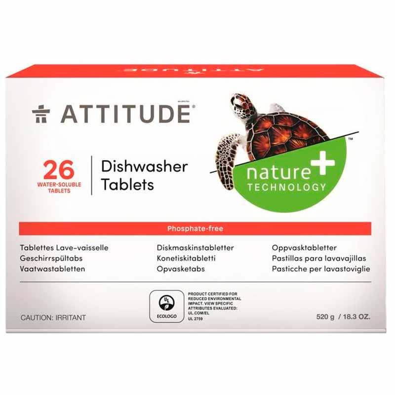 Таблетки Attitude для посудомоечных машин 26шт