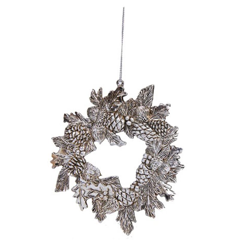 Елочное украшение Hogewoning Christmas Baubles Silver Венок