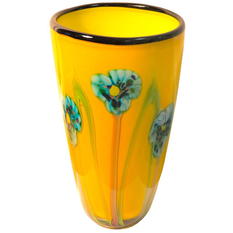 Ваза Art Glass Ирисы