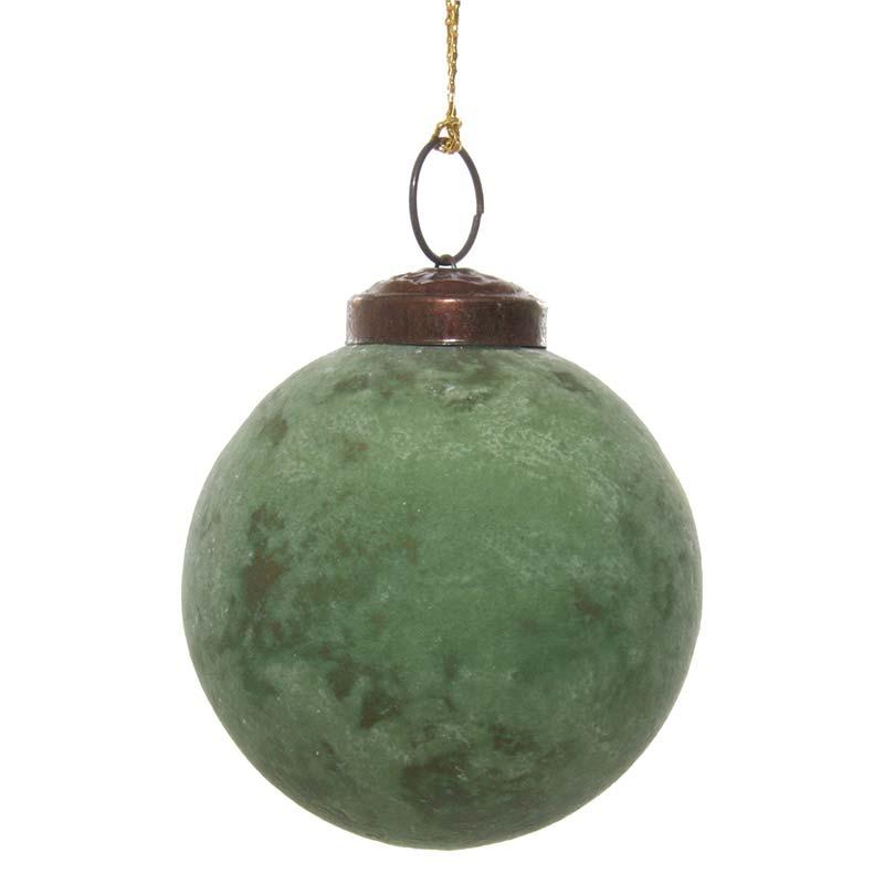 Елочное украшение Shishi Red&Green Шар 7см, зеленый