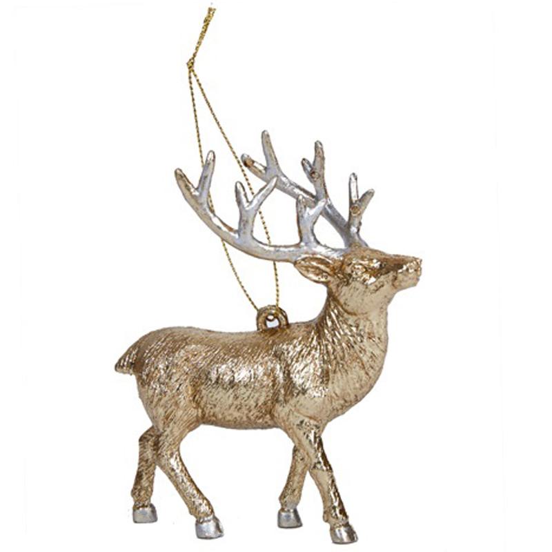 Елочное украшение Hogewoning Christmas Baubles Gold Олень