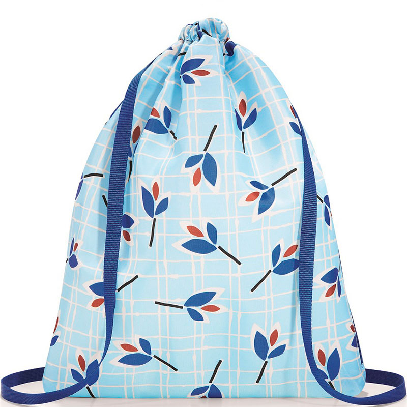Рюкзак складной Mini maxi sacpack leaves blue фото