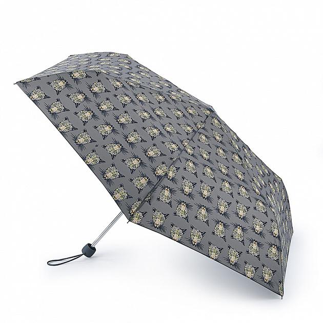 Зонт женский Fulton CheetahHead купол 86см, серый