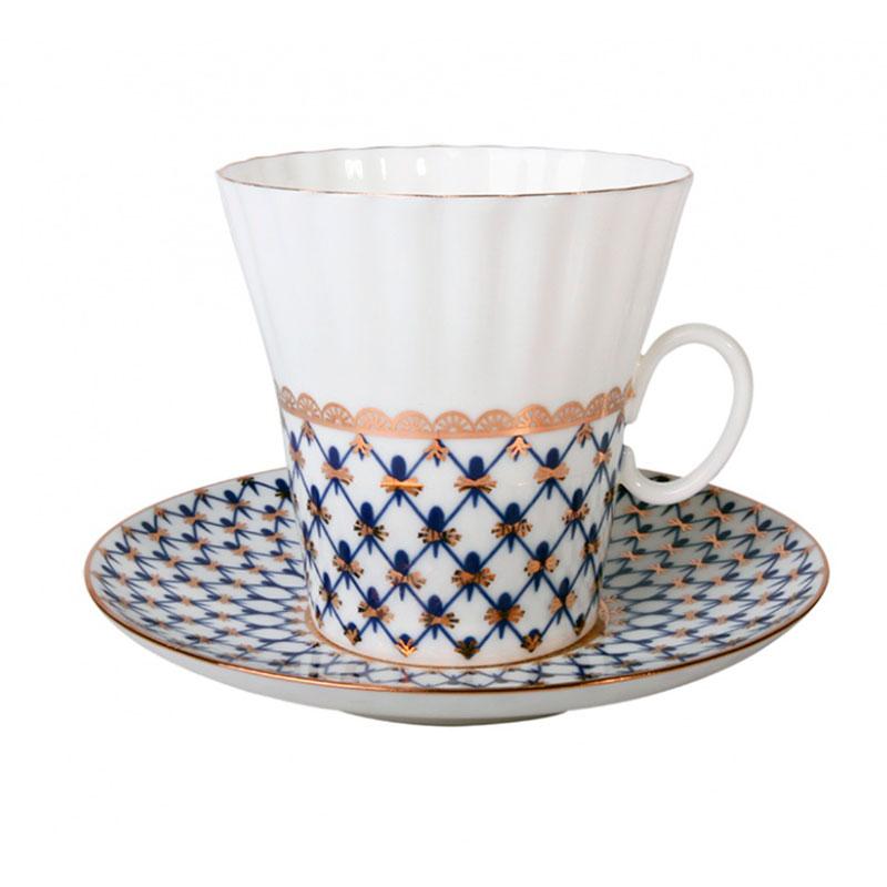 Чайная пара Одуванчик Кобальтовая сетка в подарочной