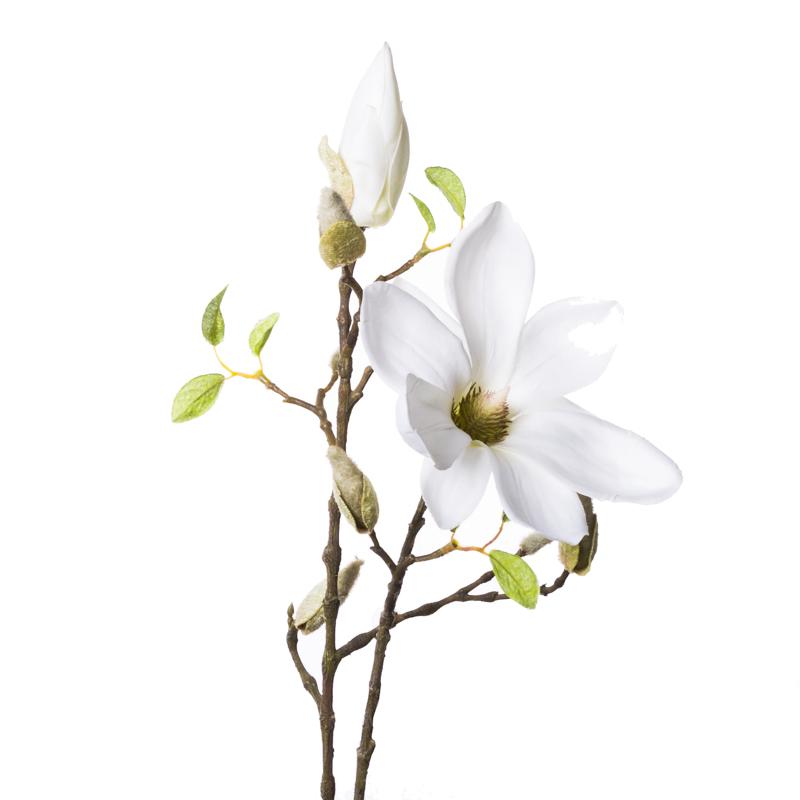 Искусственные цветы Silk ka Ветка магнолии 89см,