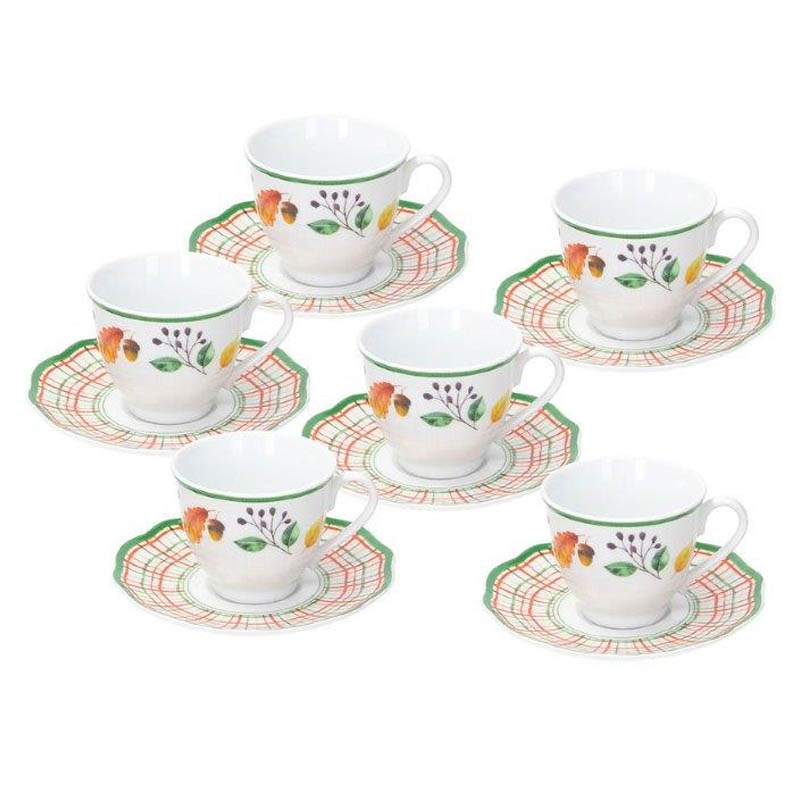 Набор кофейных чашек с блюдцами Tognana Biancospino