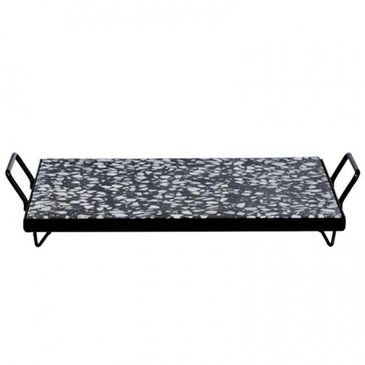 Поднос Asa Selection Terrazzo 30x21см, черно белый