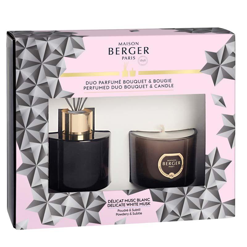 Набор Maison Berger Черный кристалл. Диффузор и свеча с ароматом Белый мускус