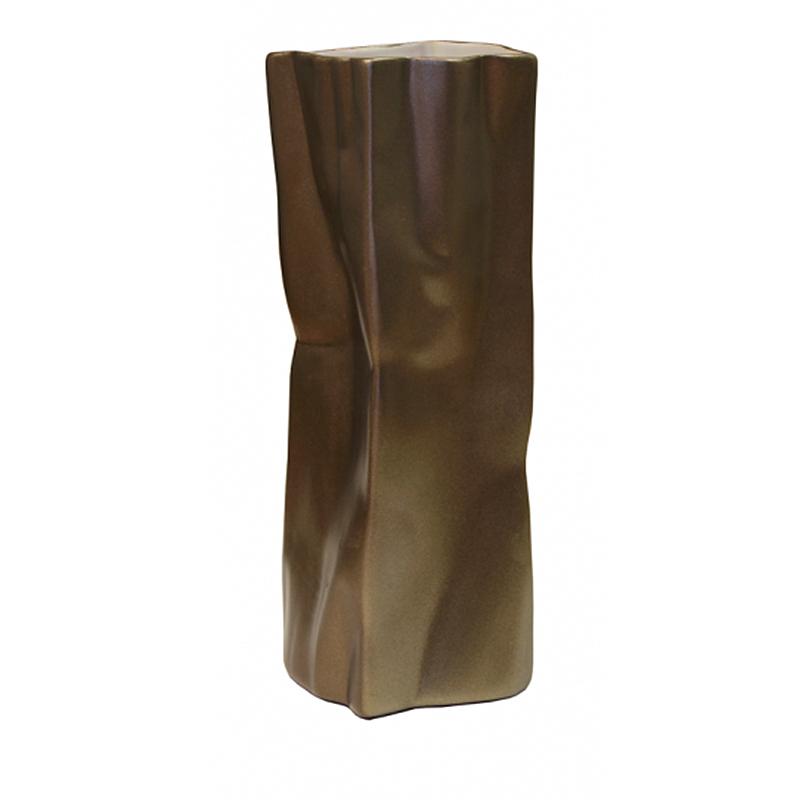 Ваза Esse 26см, цвет кофейный золотистый