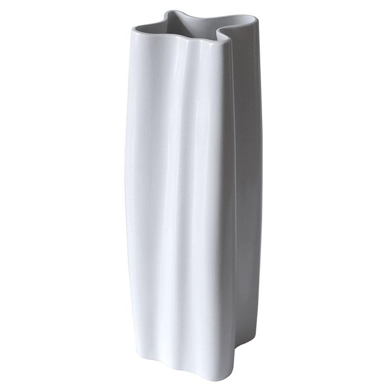 Ваза Esse 26см, цвет белый глянец