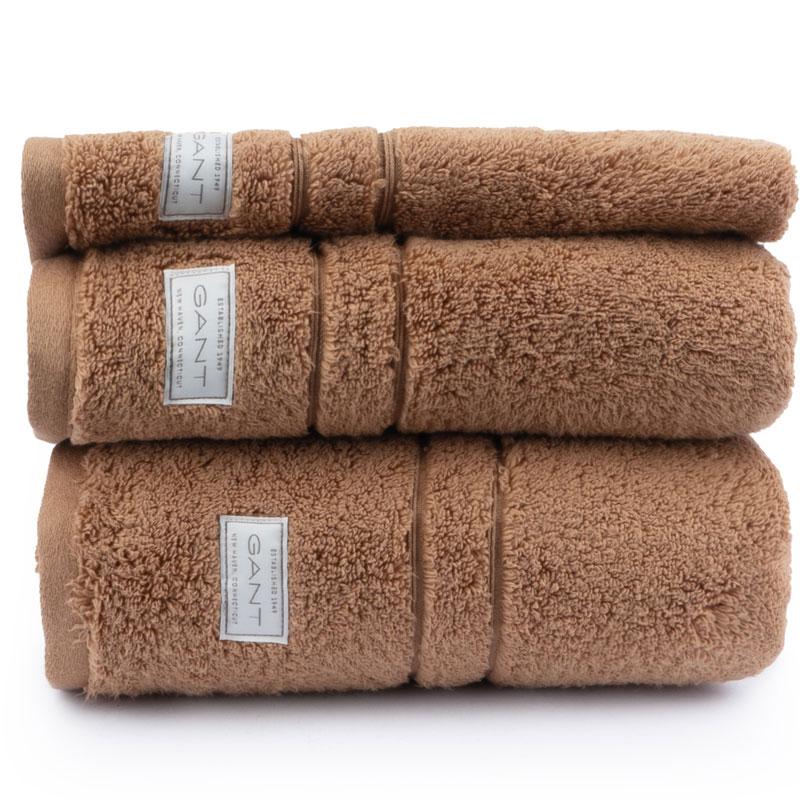 Полотенце махровое Gant Home Organic Premium 30x50см, цвет мокрый песок