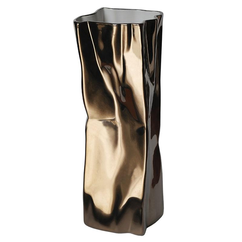 Ваза Esse 26см, бронзовый металлик
