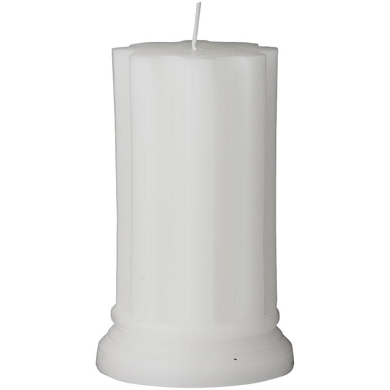 Свеча Lene Bjerre Colinne 12x7,5см, цвет белый