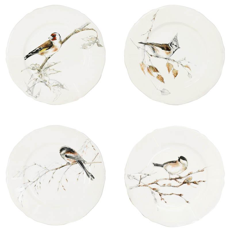Набор тарелок для канапе Gien Oiseaux Foret